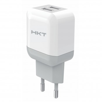 HKT 3.1A Dual USB Ports Quick Charger